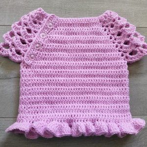 Crochet Top - Size 3 to 6 months